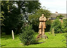 SK4641 : Statue of Samuel Taylor, Stanton Road, Cemetery, Ilkeston by Alan Murray-Rust