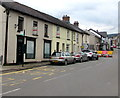 SO2414 : Houses, cars and diversion signs, Main Road, Gilwern by Jaggery