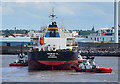 SJ3294 : The 'Aggeliki B' at Liverpool by Rossographer