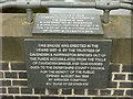 SK4133 : Commemorative plaques, Borrowash Bridge by Alan Murray-Rust