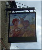TL4568 : Sign for the Jolly Millers, Cottenham by JThomas