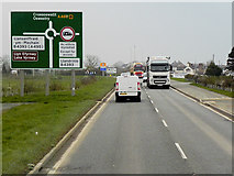 SJ2618 : Northbound A483 approaching Four Crosses by David Dixon