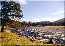 NN8596 : River Feshie in spring spate by Alan Reid