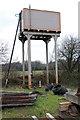SX8061 : Water tank - Totnes Riverside Station by Chris Allen
