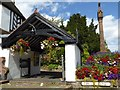 SO7993 : Lychgate and cross, Claverley by Philip Halling