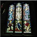 NU1019 : St Maurice, Eglingham - east window by Stephen Craven