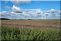 TL2363 : Wind turbines, near Graveley by Julian Osley