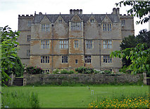 SP2429 : Chastleton House across the croquet lawn by Chris Allen