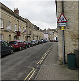 SP0202 : Warning sign - School, Gloucester Street, Cirencester by Jaggery