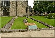 SJ9223 : Foundations of St Bertelin's Chapel, Stafford by Alan Murray-Rust