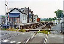 SN7634 : Llandovery station, 1992 by Ben Brooksbank