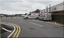 SS7597 : Integral vans near Neath railway station by Jaggery