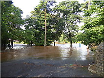 H4772 : Flooded car park, Cranny Picnic area by Kenneth  Allen