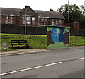 ST0186 : Colourful bus shelter, Francis Street, Thomastown by Jaggery