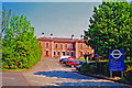 SN9584 : Llanidloes station, approach 2001 by Ben Brooksbank