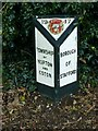 SJ9423 : Boundary marker, Weston Road, Stafford by Alan Murray-Rust