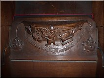 SD7336 : St Mary & All Saints, Whalley: misericord carving (i) by Basher Eyre