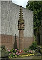 SJ9223 : War memorial cross, St Chad's Church by Alan Murray-Rust