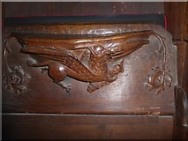 SD7336 : St Mary & All Saints, Whalley: misericord carving (iii) by Basher Eyre