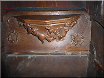 SD7336 : St Mary & All Saints, Whalley: misericord carving (vi) by Basher Eyre