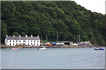 SH5873 : Terraced houses by the Menai Strait, Bangor by Andrew Woodvine