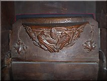 SD7336 : St Mary & All Saints, Whalley: misericord carving (xviii) by Basher Eyre