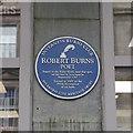 NH6645 : Robert Burns plaque, Bridge Street by Craig Wallace