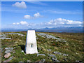NG7884 : Trig point at summit area of Cnoc Breac by Trevor Littlewood