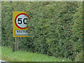 TF8710 : Necton Village Name sign on the A47 by Adrian Cable