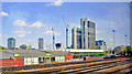 TQ2977 : NE scene on main lines into Waterloo at site of former Loco Junction, Nine Elms, 2011 by Ben Brooksbank