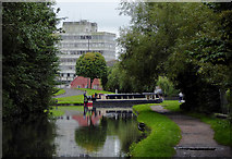 SO8276 : Canal in Kidderminster, Worcestershire by Roger  Kidd