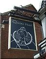 TG1101 : Sign for the Queens Head, Wymondham by JThomas