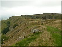 SK0383 : Abandoned stone quarries on Cracken Edge by Graham Hogg