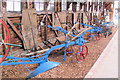 SP9315 : Ploughs in Owen's Barn, Pitstone Green Museum by Chris Reynolds