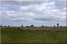 NU1341 : Rock art near Castle Point, Holy Island by Robert Eva
