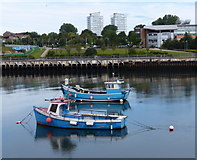 NZ4057 : Fishing boats moored on the River Wear, Sunderland by Mat Fascione