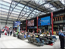 SJ3590 : Waiting area, Liverpool Lime Street by Roger Cornfoot