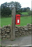 NY9038 : Elizabeth II postbox on the A689, Westgate by JThomas