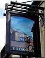 ST0582 : Cross Inn name sign near Llantrisant by Jaggery