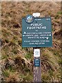 SK0384 : Peak & Northern Footpaths Society sign #489 by Graham Hogg