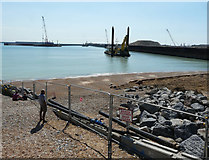 TR3140 : View from the Dover Sea Sports Centre by John Baker