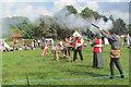 TL0506 : Firing a medieval gun on Blackbirds Common, Boxmoor by Chris Reynolds