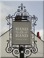 TM2737 : Hanging sign for the Hand in Hand by Adrian S Pye