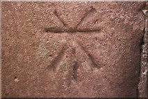 NT6779 : Cancelled Cut Bench Mark, Dunbar Lifeboat House by Mark Anderson