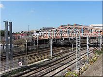 TQ2282 : Scrubbs Lane bridge over the Great Western Main Line by Gareth James