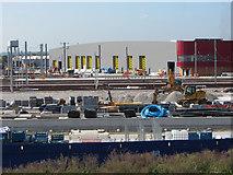 TQ2182 : New Elizabeth Line (Cross-rail) depot taking shape at Old Oak Common by Gareth James