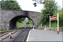 SJ1143 : Road bridge at Carrog station by Richard Hoare