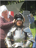 TL0506 : Getting Dressed for battle on Blackbirds Moor, Boxmoor by Chris Reynolds