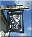 TL7443 : Sign for the Lion public house, Stoke-by-Clare by JThomas