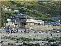 SW3526 : The Beach restaurant and Sennen Surf School by Rod Allday